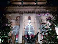 Villa Urania, ingresso principale, notturna