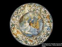Carlo Antonio Grue, piatto con Susanna e i Vecchioni, Castelli, fine del XVII secolo