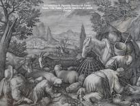 jan sadeler i tratta da marten de vos pastori che preparano il formaggio 1595