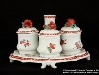 servizio da scrittoio decorato con fiori castelli michele de dominicis xix secolo