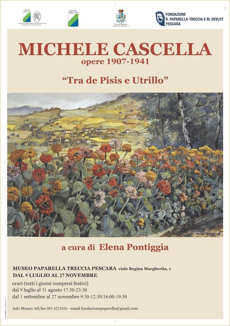 Manifesto Mostra Cascella, de Pisis, Utrillo