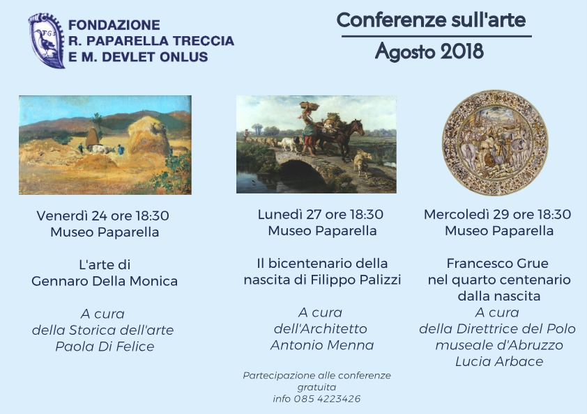 Conferenze Museo Paparella agosto 2018